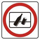 Zakaz wyrzucania odpadków za okno - znak, naklejka kolejowa - SD002