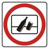 Zakaz wyrzucania odpadków za okno - znak, naklejka kolejowa - SD002 - Znaki do pociągów – oznakowanie stosowane w wagonach pasażerskich