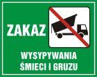 Zakaz wysypywania śmieci i gruzu - znak, lasy - OB014
