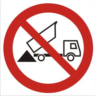 Zakaz wysypywania - znak bhp zakazujący - GB028