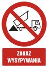 Zakaz wysypywania - znak bhp zakazujący - GC056
