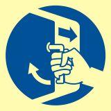 Zamknąć włazy - znak morski - FC002 - Znaki morskie