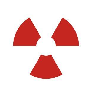 Zamknięte źródło promieniowania - znak bezpieczeństwa, ostrzegający, promieniowanie - KA002