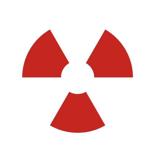 Zamknięte źródło promieniowania - znak bezpieczeństwa, ostrzegający, promieniowanie - KA002 - Promieniowanie jonizujące – bezpieczeństwo i znaki