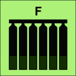 Zamocowana bateria gaśnicza (F-piana) - znak morski - FI078