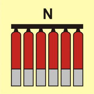 Zamocowana bateria gaśnicza (N-azot) - znak morski - FI077