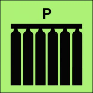 Zamocowana bateria gaśnicza (P-proszek) - znak morski - FI080