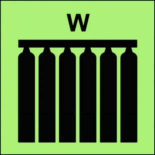 Zamocowana bateria gaśnicza (W-woda) - znak morski - FI081