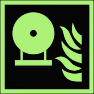 Zamocowana butla gaśnicza - znak przeciwpożarowy ppoż - BAF013