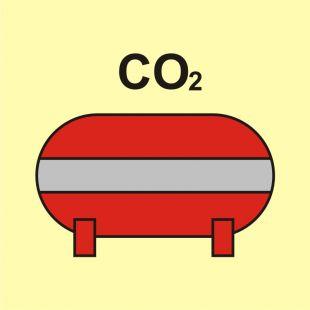 Zamocowana instalacja gaśnicza (CO2-dwutlenek węgla) - znak morski - FI070