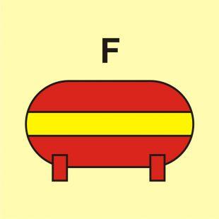 Zamocowana instalacja gaśnicza (F-piana) - znak morski - FI072