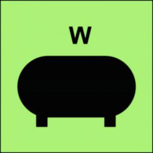 Zamocowana instalacja gaśnicza (W-woda) - znak morski - FI075
