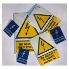 Zamów - Tabliczka elektryczna, energetyczna, ostrzeżenie przed wysokim napięciem - blacha emaliowana - wg projektu, na zamówienie