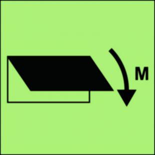 Zamykacz wlotu/wylotu wentylacyjnego (obszar maszynowy) - znak morski - FI038