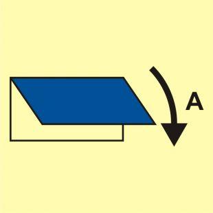 Zamykacz wlotu/wylotu wentylacyjnego (obszar serwisowy) - znak morski - FI037