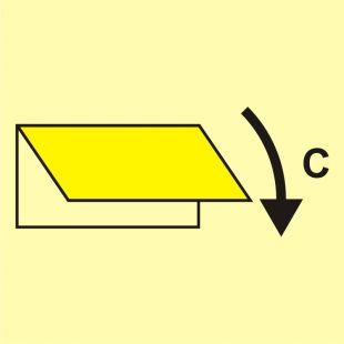 Zamykacz wlotu/wylotu wentylacyjnego (obszar towarowy) - znak morski - FI039