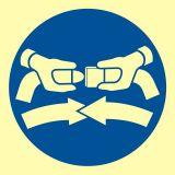 Zapiąć pasy bezpieczeństwa - znak morski - FC001 - Znaki morskie