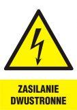 Zasilanie dwustronne - znak sieci elektrycznych - HA017 - Norma PN-E-08501:1998