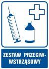 Zastaw przeciwwstrząsowy - znak informacyjny - RF022