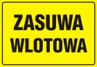 Zasuwa wlotowa - znak bezpieczeństwa, informujący, gazociągi - JD008