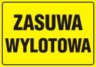 Zasuwa wylotowa - znak bezpieczeństwa, informujący, gazociągi - JD009