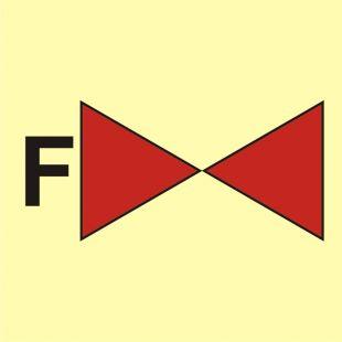Zawór odcinający na systemie instalacji gaśniczej pianowej - znak morski - FA016