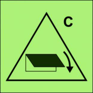 Zdalne sterowanie zamykaczy wlotu/wylotu wentylacyjnego (obszar towarowy) - znak morski - FI045