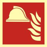 Zestaw sprzętu ochrony przeciwpożarowej - znak przeciwpożarowy ppoż - BAF004 - Biurowiec – jakie oznaczenia są konieczne?