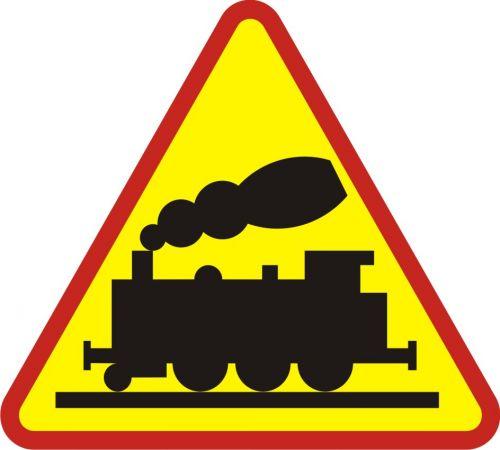 Znak A-10 Przejazd kolejowy bez zapór - drogowy ostrzegawczy - Przejazdy kolejowe – znaki i oznaczenia – znaki drogowe, cz. IV