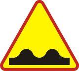 Znak A-11 Nierówna droga - drogowy ostrzegawczy - Odległość znaków ostrzegawczych od miejsc niebezpiecznych