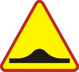Znak A-11a Próg zwalniający - drogowy ostrzegawczy - Znaki ostrzegawcze – znaki drogowe, cz. I