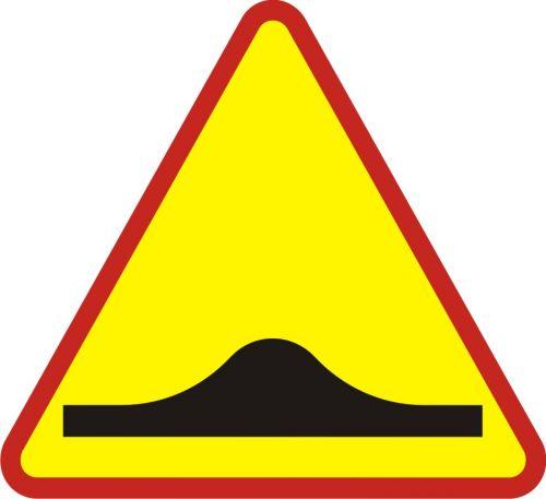 Znak A-11a Próg zwalniający - drogowy ostrzegawczy - Zastosowanie urządzeń bezpieczeństwa ruchu drogowego