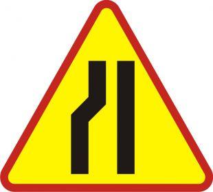 Zwężenie jezdni lewostronne