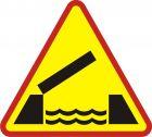 Znak A-13 Ruchomy most - drogowy ostrzegawczy