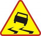 Znak A-15 Śliska jezdnia - drogowy ostrzegawczy