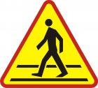 Znak A-16 Przejście dla pieszych - drogowy ostrzegawczy