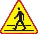 Znak A-16 Przejście dla pieszych - drogowy ostrzegawczy - Znaki drogowe – podstawowe określenia