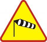 Znak A-19 Boczny wiatr - drogowy ostrzegawczy - Znaki ostrzegawcze – znaki drogowe, cz. I