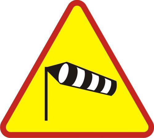 Znak A-19 Boczny wiatr - drogowy ostrzegawczy - Zastosowanie urządzeń bezpieczeństwa ruchu drogowego