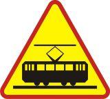 Znak A-21 Tramwaj - drogowy ostrzegawczy - Znaki ostrzegawcze – znaki drogowe, cz. I