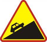 Znak A-23 Stromy podjazd - drogowy ostrzegawczy - Odległość znaków ostrzegawczych od miejsc niebezpiecznych