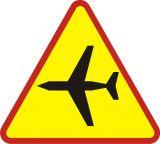 Znak A-26 Lotnisko - drogowy ostrzegawczy - Znaki ostrzegawcze – znaki drogowe, cz. I