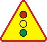 Znak A-29 Sygnały świetlne - drogowy ostrzegawczy - Sygnalizacja przenośna