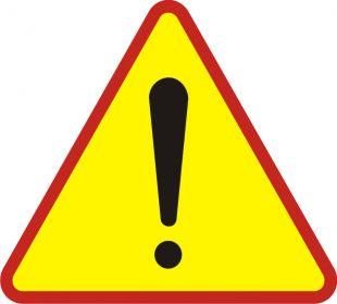 Znak A-30 Uwaga! Inne niebezpieczeństwo - drogowy ostrzegawczy