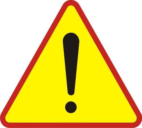 Znak A-30 Uwaga! Inne niebezpieczeństwo - drogowy ostrzegawczy - Roboty prowadzone w poboczu i w pasie dzielącym