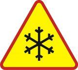 Znak A-32 Oszronienie jezdni - drogowy ostrzegawczy - Znaki ostrzegawcze – znaki drogowe, cz. I