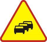 Znak A-33 Zator drogowy - drogowy ostrzegawczy - Znaki ostrzegawcze – znaki drogowe, cz. I