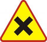Znak A-5 Skrzyżowanie dróg - drogowy ostrzegawczy - Znaki ostrzegawcze – znaki drogowe, cz. I