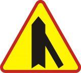Znak A-6d Wlot drogi jednokierunkowej z prawej strony - drogowy ostrzegawczy - Strefa zamieszkania – o czym informuje znak D-40?