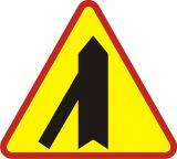 Znak A-6e Wlot drogi jednokierunkowej z lewej strony - drogowy ostrzegawczy - Znaki ostrzegawcze – znaki drogowe, cz. I